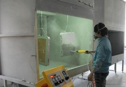 Powder spraying process on the surface of aluminum alloy