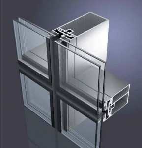 Glass aluminum profile curtain wall 1
