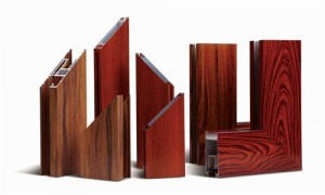 woodgrain like aluminium profile