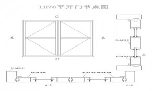 LH76 side hung door seires aluminium profiles